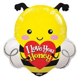 20 inch I Love You Honey Bee Shape Foil Mylar Balloon