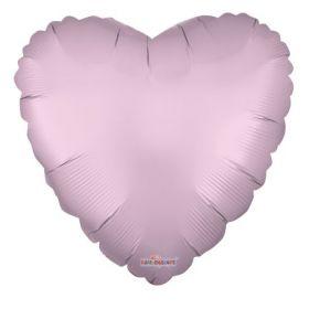 18 inch Matte Pink Heart Foil Balloons - flat