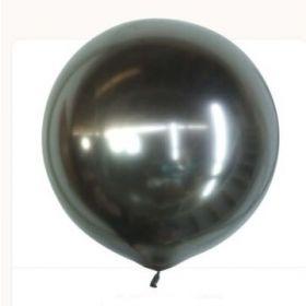 18 inch Kalisan Space Grey Mirror Chrome Latex Balloons - 10 ct