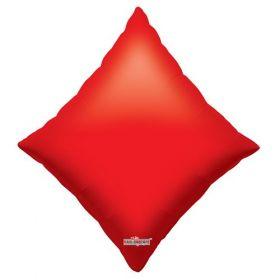 28 inch Red Poker Diamond Shape Foil Mylar Balloon