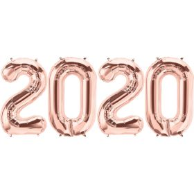 34 inch Rose Gold Foil 2020 Number Balloon Set