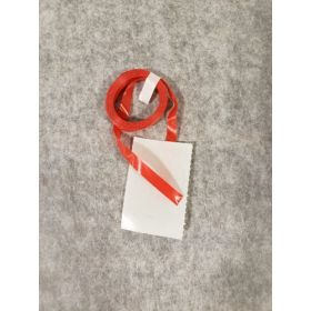 8 ft. Red Satin Curling Ribbon Coils With Tape Tab - 100 count - for Foil Balloons