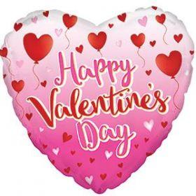 18 inch Happy Valentine's Day Balloon Hearts Foil Mylar Heart Balloon