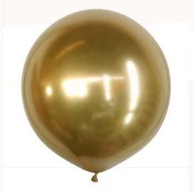 36 inch Kalisan Gold Mirror Chrome Latex Balloons - 2ct