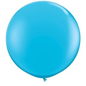 36 inch Tuf-Tex Round Latex Balloons - Robin's Egg Blue
