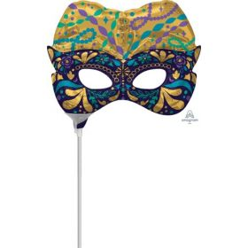 14 inch Anagram Night Disguise Mask Shape Foil Balloon - Flat