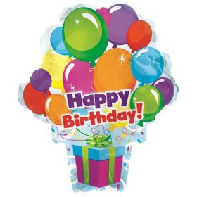 21 inch Happy Birthday Balloon Surprise Balloon - Packaged