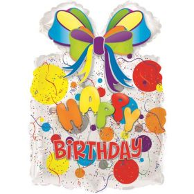 26 inch Happy Birthday Gift with Balloons Shape Balloon