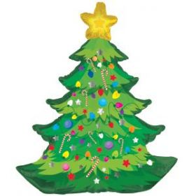 35 inch CTI Christmas Tree with Branches Shape Foil Balloon