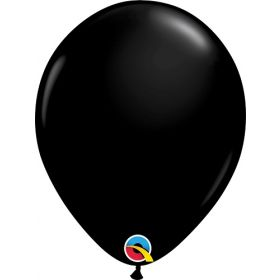 16 inch Qualatex Onyx Black Latex Balloons - 50 count