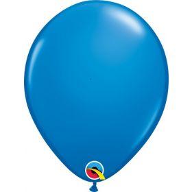 11 inch Qualatex Dark Blue Latex Balloons - 100 count