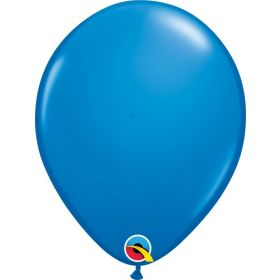 16 inch Qualatex Dark Blue Latex Balloons - 50 count