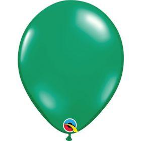 11 inch Qualatex Emerald Green Latex Balloons - 100 count