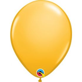 11 inch Qualatex Goldenrod Latex Balloons - 100 count