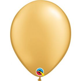 5 inch Qualatex Metallic Gold Latex Balloons - 100 count