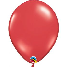 5 inch Qualatex Ruby Red Latex Balloons - 100 count