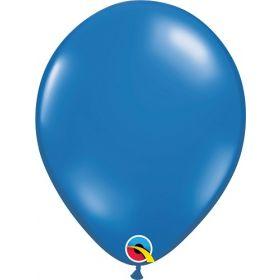 11 inch Qualatex Sapphire Blue Latex Balloons - 100 count
