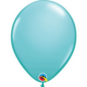 16 inch Qualatex Caribbean Blue Latex Balloons - 50 count