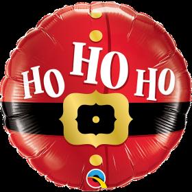 18 inch Qualatex Ho Ho Ho Santa's Belt Foil Balloon - Packaged
