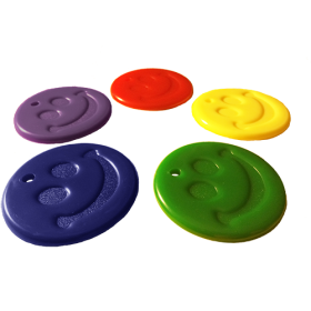 15 Gram Primary Color Happy Face Balloon Weight - 50 count