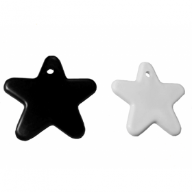 8 Gram White & Black Star Shape Balloon Weight - 100 count
