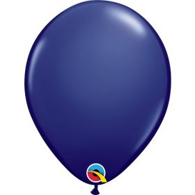 16 inch Qualatex Navy Latex Balloons - 50 count