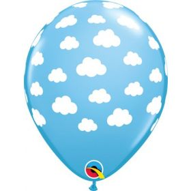 11 inch Qualatex Clouds Latex Balloons- 50 count