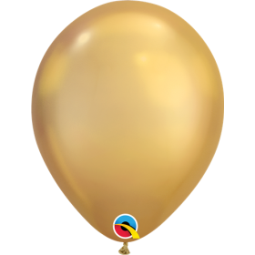 11 inch Qualatex Chrome Gold Latex Balloons - 100 count