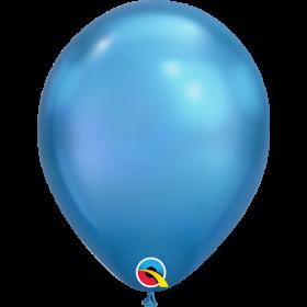 11 inch Qualatex Chrome Blue Latex Balloons - 100 count