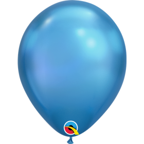7 inch Qualatex Chrome Blue Latex Balloons - 100 count