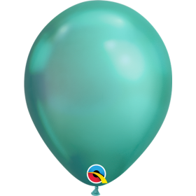 7 inch Qualatex Chrome Green Latex Balloons - 100 count