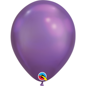 7 inch Qualatex Chrome Purple Latex Balloons - 100 count