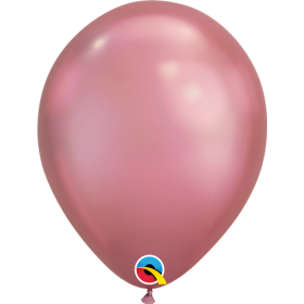7 inch Qualatex Chrome Mauve Latex Balloons - 100 count