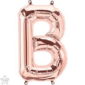 16 inch Rose Gold Letter B Foil Mylar Balloon