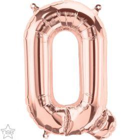 16 inch Rose Gold Letter Q Foil Mylar Balloon