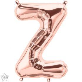16 inch Rose Gold Letter Z Foil Mylar Balloon