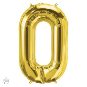 34 inch Northstar Gold Number 0 Foil Balloon