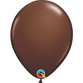 11 inch Qualatex Chocolate Brown Latex Balloons - 100 count