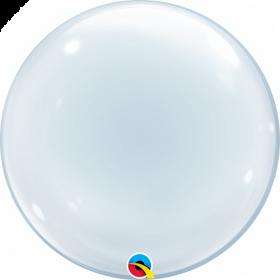 24 inch Qualatex Clear Deco Bubble Balloon