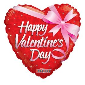 36 inch Happy Valentine's Day Gift Foil Mylar Heart Balloon - Pkg