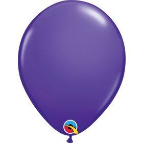 11 inch Qualatex Purple Violet Latex Balloons - 100 count