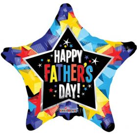 18 inch Happy Father's Day Foil Mylar Star Shape Balloon