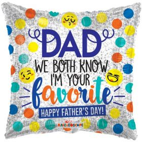 18 inch Dad I'm Favorite Foil Mylar Square Balloon