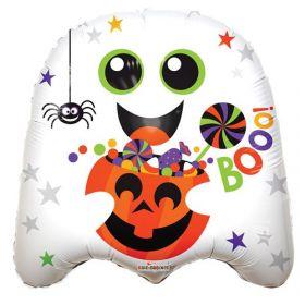 18 inch Booo! Ghost Shape Halloween Foil Mylar