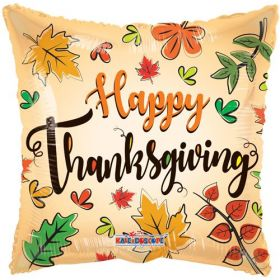 18 inch Happy Thanksgiving Square Foil Mylar