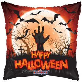 18 inch Halloween Zombie Hand Square Foil Mylar