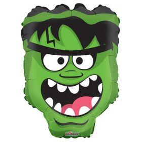 18 inch Halloween Green Monster Head Shape Foil Mylar
