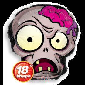 18 inch Halloween Zombie Head Shape Foil Mylar
