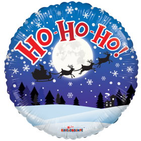 18 inch Ho Ho Ho! Circle Foil Balloon