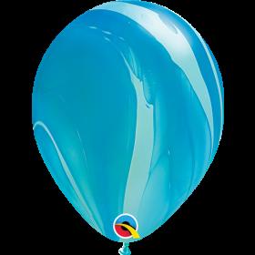 Qualatex Blue Super Agate 11 inch Latex Balloon - 25 count